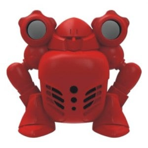 雷克爾 重低音2.1聲道戰士公仔 多媒體喇叭~炙焰紅