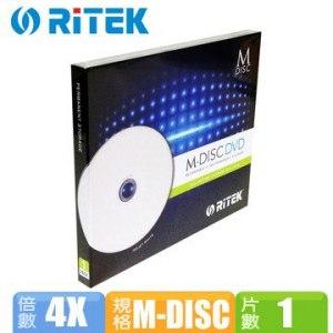 錸德RiTEK 千年光碟 M-DISC DVD(單片盒裝)