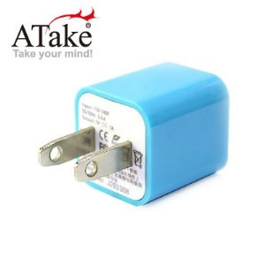 ATake - AC電源轉USB電源轉接頭(藍)SAC-USB1A01-BL