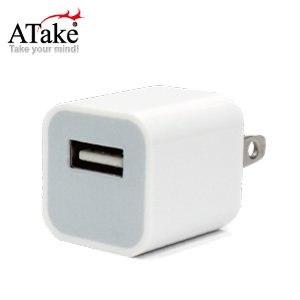 ATake -AC電源USB電源轉接頭-1000mA-白色 SAC-USB1A01-2