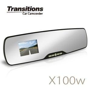 全視線 X100w 停車監控 1080P後視鏡行車記錄器(送16G TF卡)