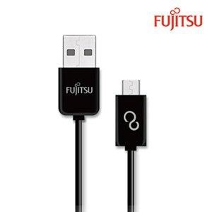 FUJITSU富士通MICRO USB傳輸充電圓線-15CM(黑)