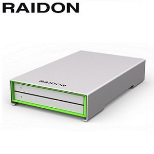 RAIDON 2.5吋USB3.0/2bay磁碟陣列設備-GR2660-B3