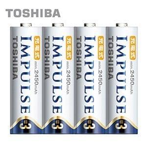 ~ 製TOSHIBA~IMPULSE高容量低自放電電池^(2450mAh 3號4入^)