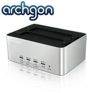 archgon亞齊慷 2.5/3.5吋USB3.0雙SATA Clone硬碟外接座-MH-3621