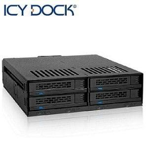 ICY DOCK 2.5吋SAS/SATA/HDD 4bay硬碟抽取盒-MB324SP-B