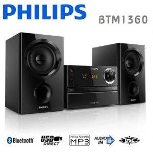 【贈 PHILIPS耳機】PHILIPS 飛利浦CD/藍芽/USB音響組(BTM1360)