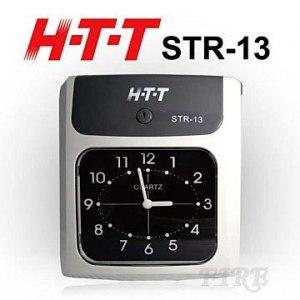HTT 六欄位雙色帶打卡鐘 STR-13 鈴聲/鬧鈴功能 精準石英振盪設計(贈10人份卡架+100張卡片+計步器)