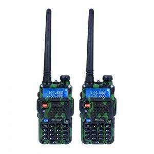 【隆威 Ronway】F2 VHF/UHF 雙頻 無線電對講機 黑幕版 2入組《迷彩》