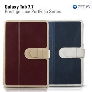 Zenus Samsung Tab 7.7 側掀式高質感真皮皮套