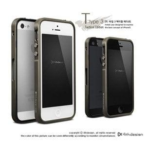 4thdesign iPhone 5 T:type 3系列 無螺絲鋁合金保護框 - 軍事戰略版