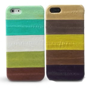 ZENUS iPhone 5 EEL 條紋造型貼皮硬殼