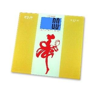 【愛計較】炫金藍光超大螢幕電子體重計 (金動舞林) BS-3030B