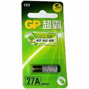 GP超霸27A/12V高伏特電池(6卡6入)