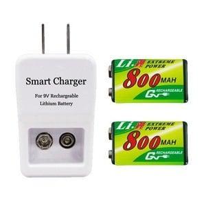 GN 9V 鋰充電池充電器組(充電器+鋰電池2顆)