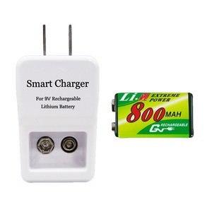 GN 9V 鋰充電池充電器組(充電器+鋰電池1顆)