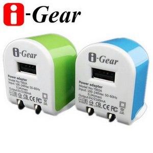i-Gear AC轉USB 2.1A旅充變壓器