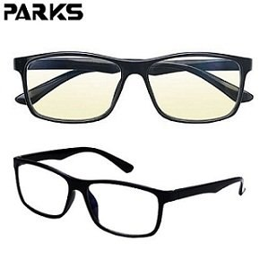 PARKS 專業3C濾藍光眼鏡時尚雅痞系列-黑