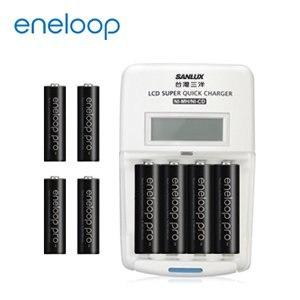 日本Panasonic國際牌eneloop高容量充電電池組 (旗艦型充電器+4號8入)