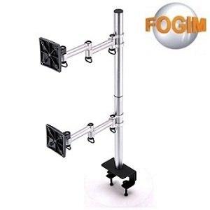 福利品》FOGIM 夾桌懸臂式雙液晶螢幕支架(終身保固)-TKLA-6032C3