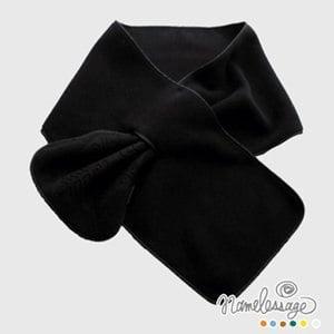 【namelessage】日本無名世代Polartec雪花保暖圍巾(黑)