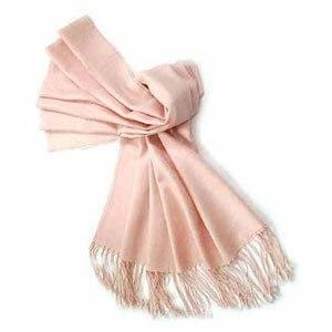天絲羊毛兩用披肩、圍巾-粉色