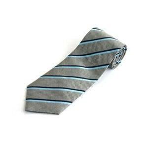 全真絲手工縫製紳士領帶-斜紋藍