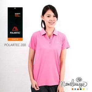 【namelessage】新品85折!日本無名世代女款POLARTEC 200吸濕排汗POLO衫(粉紅)
