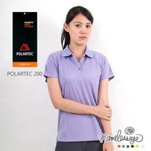 【namelessage】新品85折!日本無名世代女款POLARTEC 200吸濕排汗POLO衫(紫)