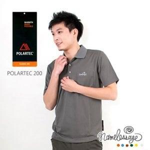【namelessage】新品85折!日本無名世代男款POLARTEC 200吸濕排汗POLO衫(灰)