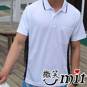 【微笑MIT】CHIAMEI/佳美-吸濕排汗紗針織POLO杉 男款MS-301102(白)