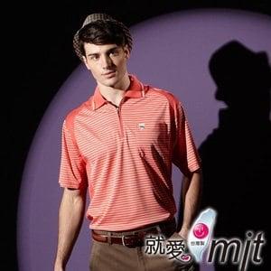 【微笑MIT】 Aiken Sport艾肯/伯國-男款短袖 3M吸濕排汗POLO衫 AK13212(橘紅)