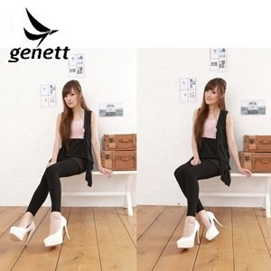 genett/新科紡-genett纖細裏刷毛sanitized抗菌九分褲襪socks003BK(黑)