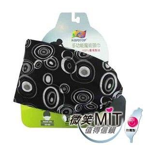 【微笑MIT】KUSOTOP-多功能百變魔術頭巾  HW070(黑)
