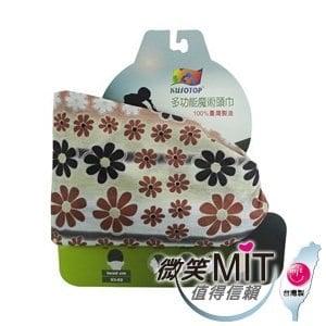 【微笑MIT】KUSOTOP-多功能百變魔術頭巾  HW080(咖啡)