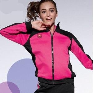 【E.G.B】女款 針織夾克 EG102102A(桃紅/黑)