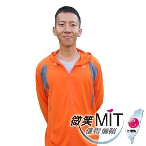 【微笑MIT】CHIAMEI/佳美-抗UV吸濕排汗外套MS-303001(橘色)
