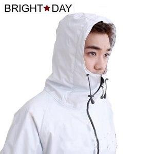 【BrightDay】風雨衣兩件式 日系刷毛潮流款(淺灰)-L