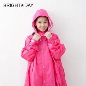 【BrightDay】風雨衣連身式 桑德史東T4兒童款(甜心粉)