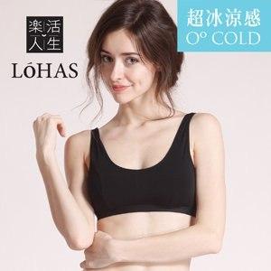 【Lohas】全新冰涼英國天絲棉 超涼爽型運動內衣(時尚黑)