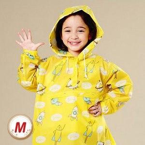 【BrightDay】香蕉人太空連身式風雨衣(兒童款/黃)M
