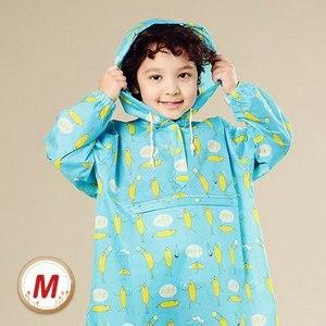 【BrightDay】香蕉人太空連身式風雨衣(兒童款/藍)M