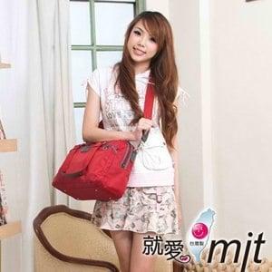 【微笑MIT】海傑羅Hiujelo/固新皮件-真皮側肩包 H0061-009-7010(紅)