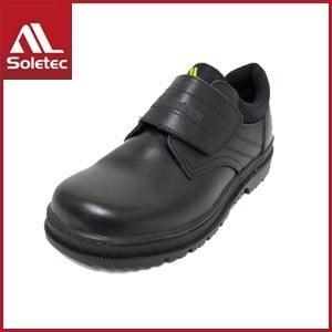 【Soletec】皮革製 H級超鐵安全防護鞋 E9806(黑)