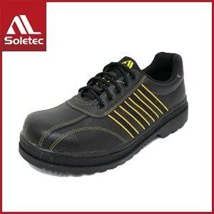 【Soletec】皮革製 超鐵安全工作鞋 C1059(黑)