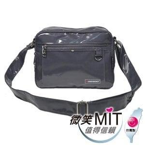 【微笑MIT】Confidence 高飛登/晟旭-流行鏡面側背包 CB1371-2(氣質灰/小)