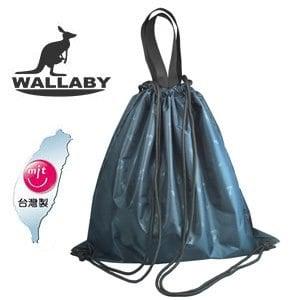 【微笑MIT】WALLABY/皇普-多功能印花束口袋 HTB-1386(藍)