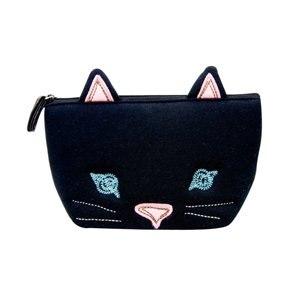 【sunlemon】動物FACE化妝包(黑貓)