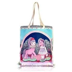 【COPLAY】女孩與小馬兒|束口後背包 (束口袋)CBL0367