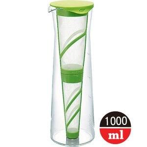 日本《HARIO》耐熱玻璃冷泡壺 (1000ml) MDN-10GP 綠色